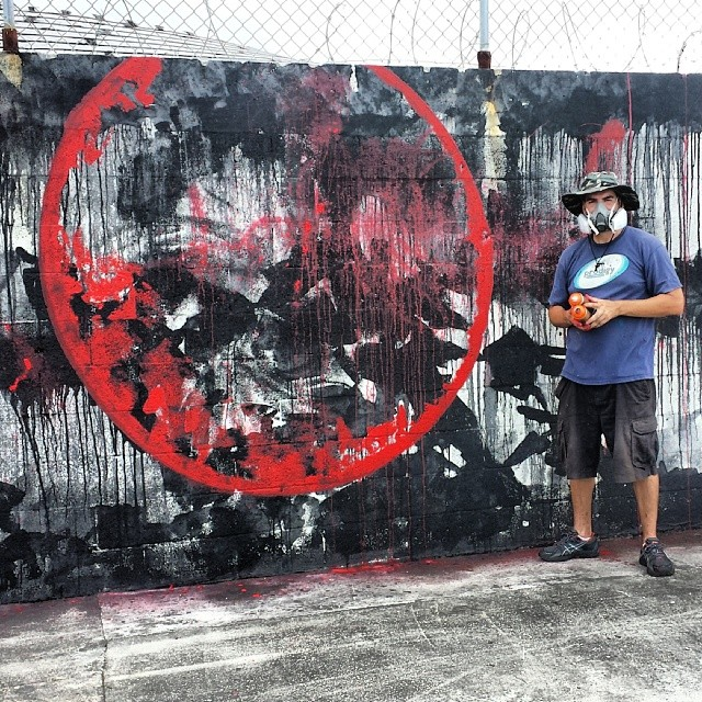 Getting down on a new wall in Fat Village #fatvillage #hecone #hec1 #heconelove #loveism #loveismmovement #ftlauderdale #miamigraffiti #streetart #streetartist