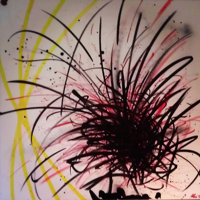Genesis. 30x30. 2014#postgraffism #picoftheday #painting #soloshow #streetartdubai #streetartist #streetart #Hec #hec1 #heconelove #hec1love