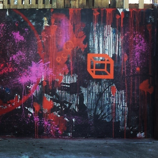 Luxuria, 35x8 feet, 2014 (detail)  #Hec  #hec1 #hecone #heconelove #hec1love #streetart #streetartist #fatvillage #graffporn #mural #drips